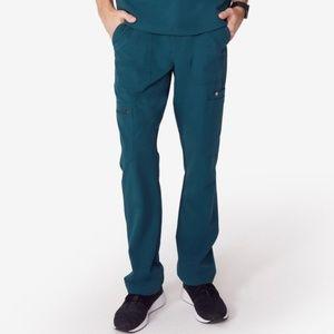 NWT FIGS CAIRO CARGO Caribbean Blue Scrubs Pants